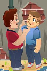Boy Bullying His Friend