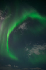 Aurora borealis or Northern lights in the sky, Iceland