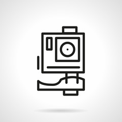 Extreme action camera simple line vector icon