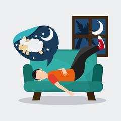 Rest and sleep design , vector illustration