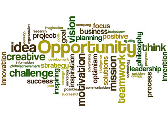 Opportunity, word cloud concept 4