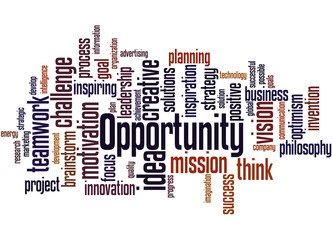 Opportunity, word cloud concept 8