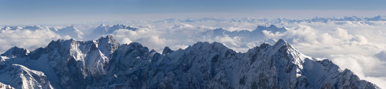 Zugspitze Alpen Panorama