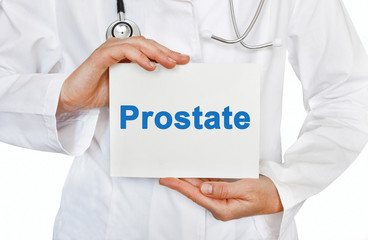 Prostate card in hands of Medical Doctor