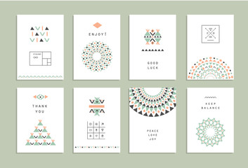 Cute Collection of Ethnic Cards and Invitations.