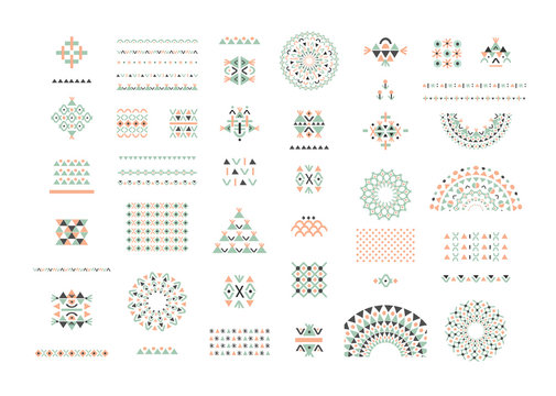 Cute Collection of Ethnic patterns. Geometric and aztec decor