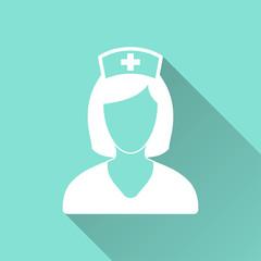Nurse - vector icon.