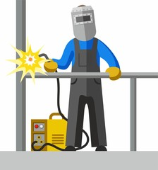 Welder, full-colour picture.