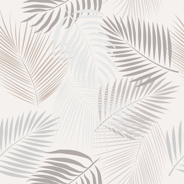 Seamless pattern leaves of palm tree.