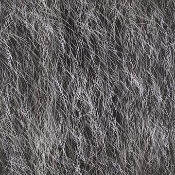 Vector Fur Seamless Pattern. Grey Fur Background.