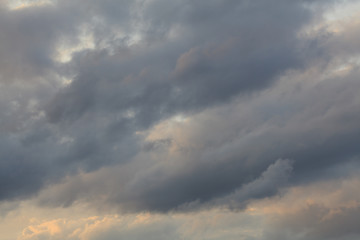 Background Texture of Clouds and Blue sky sunset light.