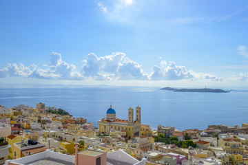 Syros island. Panoramic view of one of the most beautiful island