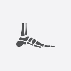 Foot icon of vector illustration for web and mobile