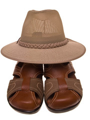 Sandals and hat
