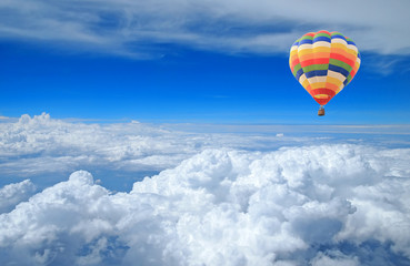 Colorful balloon in the blue sky