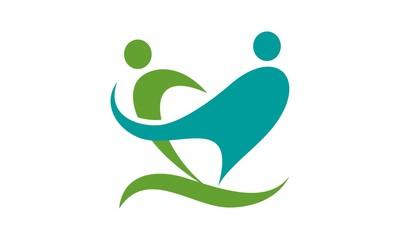 Care Figure Logo Vector