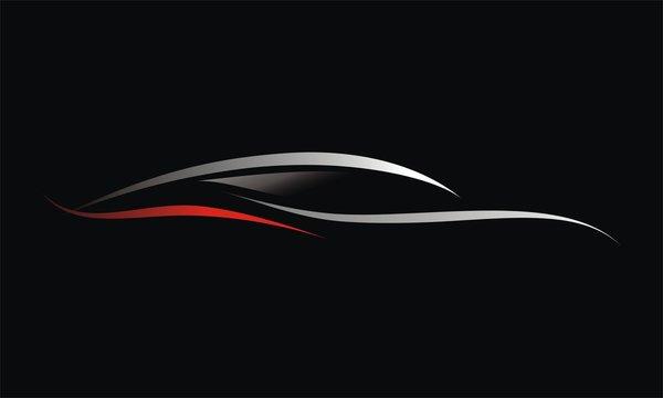 Car Line Logo Vector