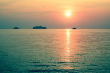 Beautiful sunset on the Sea coast.