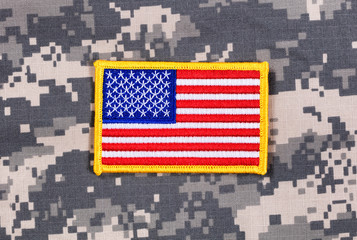 USA Flag patch with battle dress uniform