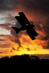 Silhouette of WWI plane