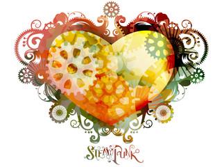 Steampunk Heart Design