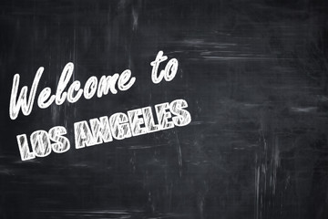 Chalkboard background with chalk letters: Welcome to los angeles