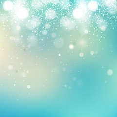 Abstract cool blue bubbles background.
