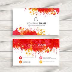 red ink splash business card