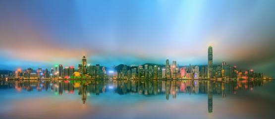 Wall Murals Kuala Lumpur Panorama of Hong Kong and Financial district