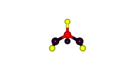 3D illustration of Phosphorous acid molecular structure isolated on white