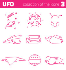 ufo alien ships icon part three