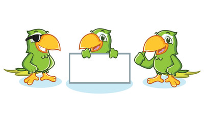 Parrot Mascot Vector happy