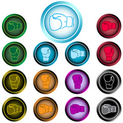 Clipart icon of boxing gloves