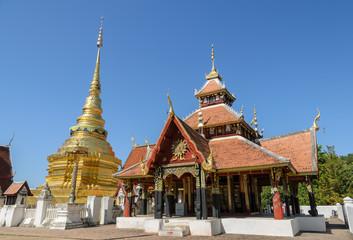 Ancient temple of Wat Pongsanuk in Lamang, Thailand