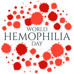 World Hemophilia Day. Vector illustration of blood drops on white background. Blood drop symbol. Blood drop icon. Hemophilia sign. Hemophilia awareness symbol. Stop hemophilia. Medical concept.