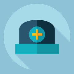 Flat modern design with shadow  Icon medical cap
