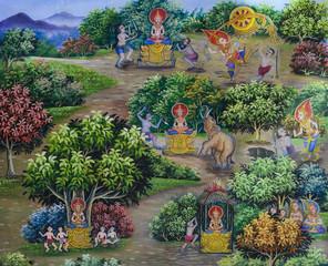 Thai mural Buddhist art