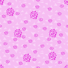 Seamless background pattern of roses.