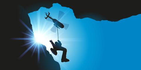 Sauvetage en montagne - secours