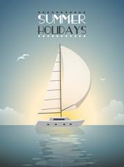 Summer Holidays Sailing template