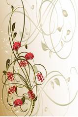 roses vecteur