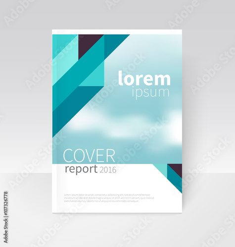 Cover design. Brochure, flyer, annual report cover template. a4 size ...