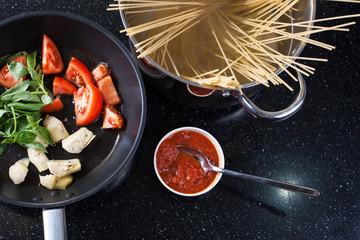 Italian pasta with artichoke