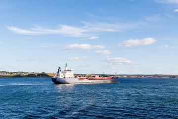 Oil Tanker Leaving Canada
