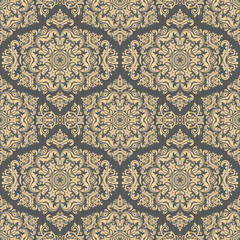 Oriental classic golden ornament. Seamless abstract pattern