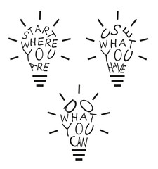 Light bulbs from quotes