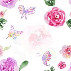 Seamless watercolor pattern
