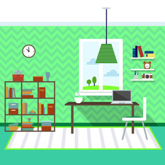 Modern living room vector for your ideas