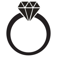 diamond ring vector icon - photo #13