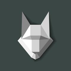 geometric wolf vector2